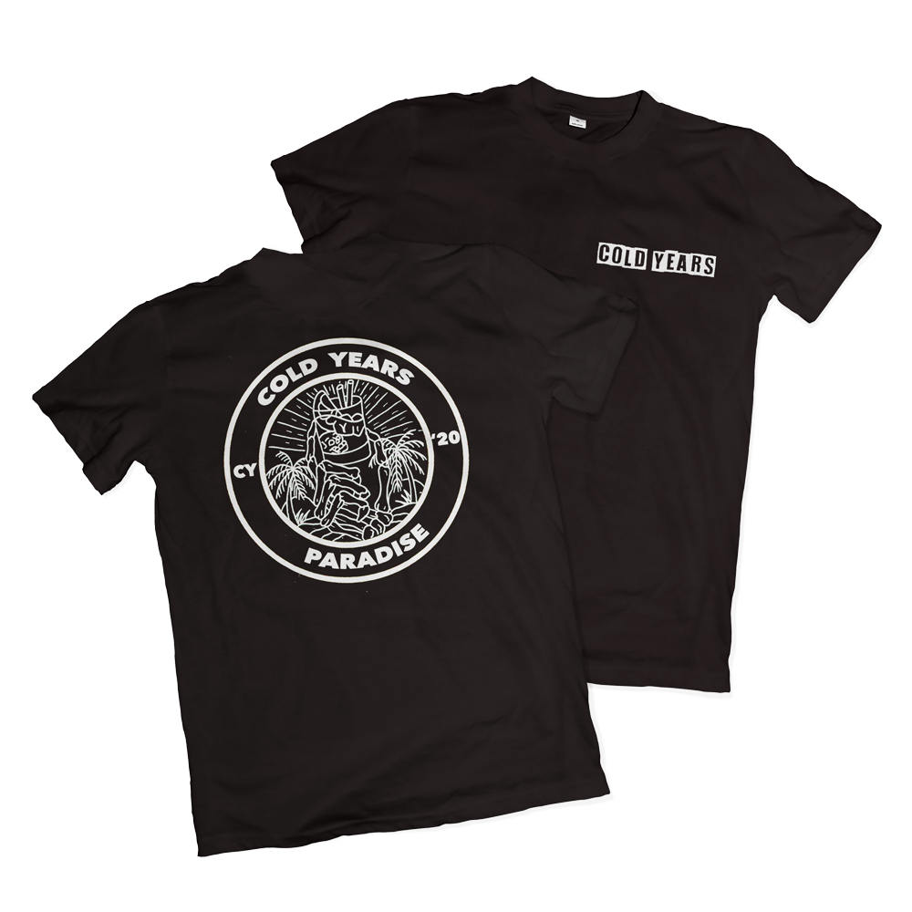 Cold Years - 'Paradise' T-Shirt [Black/White]