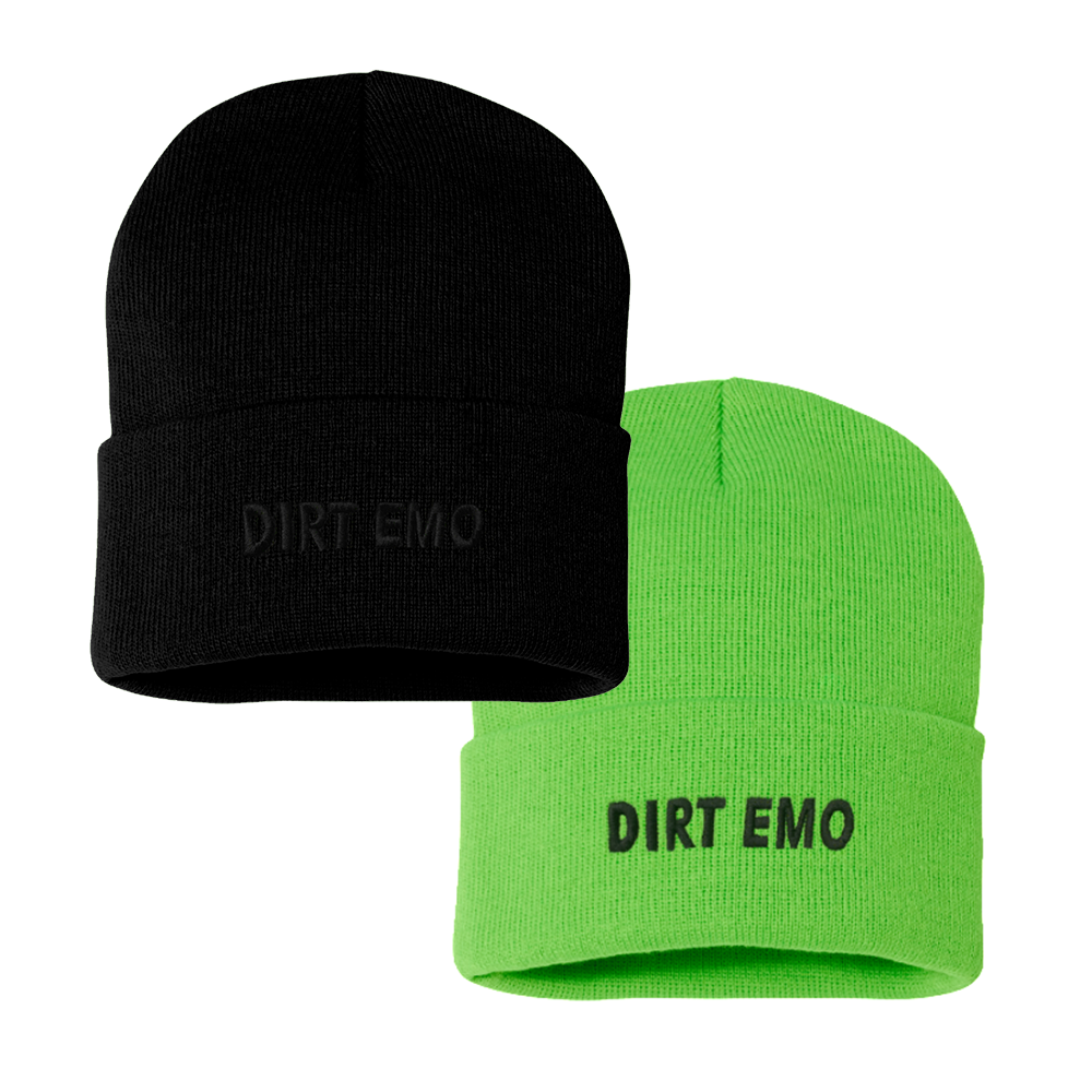Dirt Emo Embroidered Knit Beanie + Dirt Emo Vol. 1 Vinyl/Download (optional)