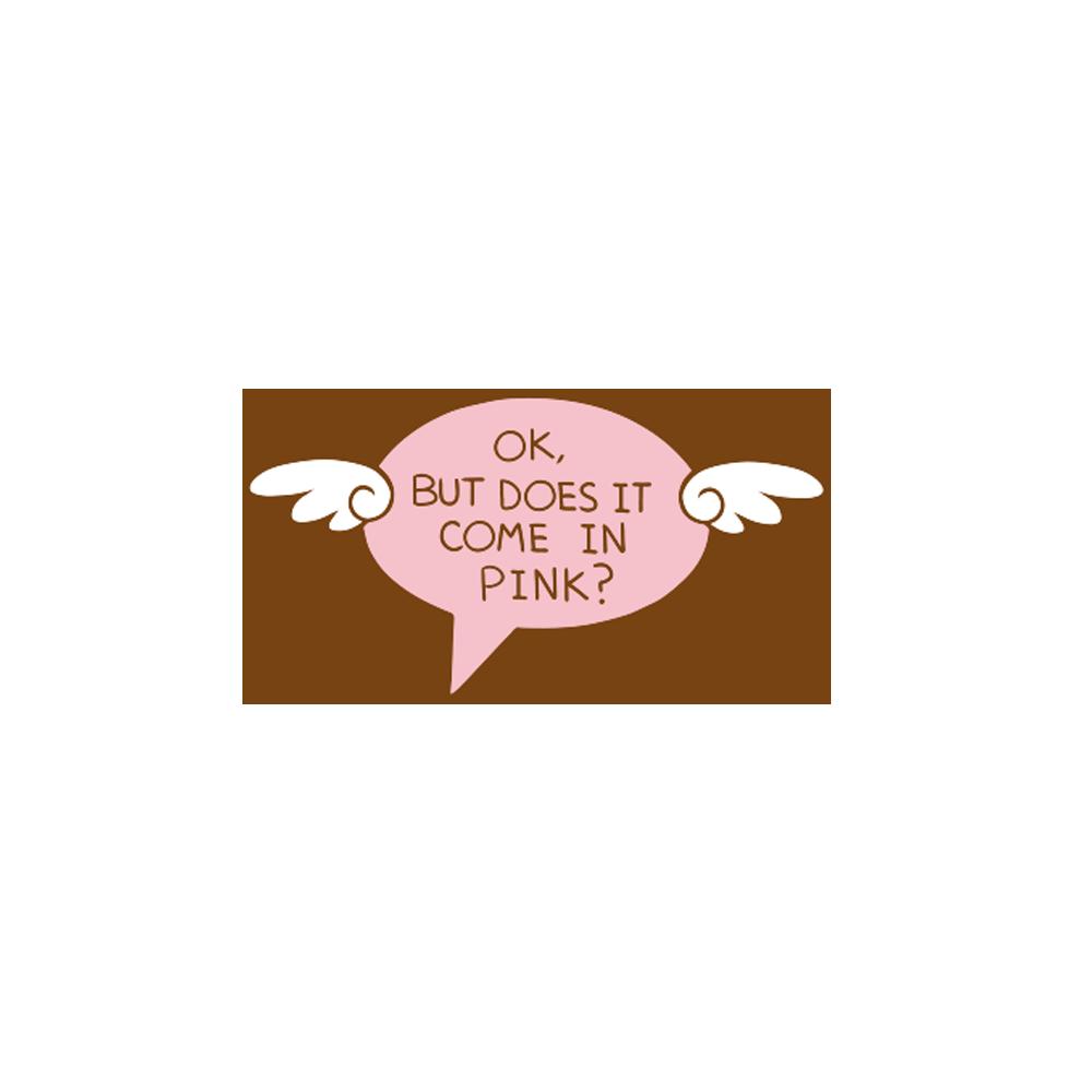 Conversation Enamel Pin - Pink