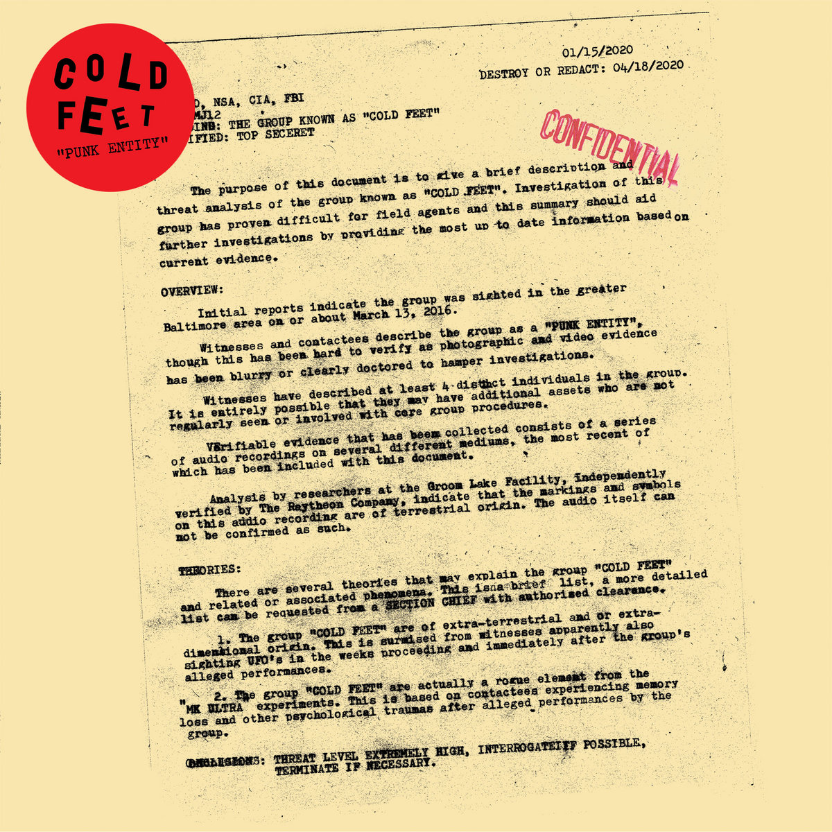 Cold Feet - Punk Entity LP