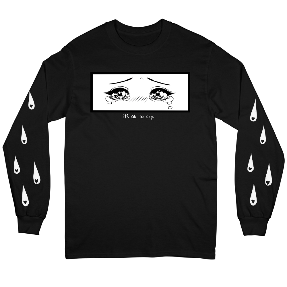 Cry Positive Long Sleeve - Black