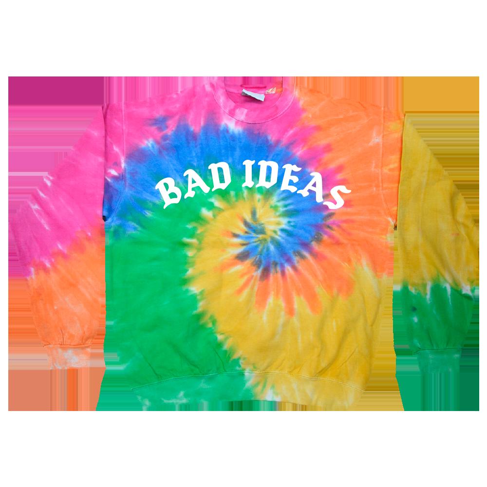 Bad Ideas Tie Dye Crewneck