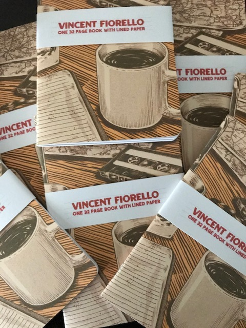 6/19 Soft Cover Book By Vincent Fiorello + 18 x 24 Silkcreened Cover Print  or Notebook