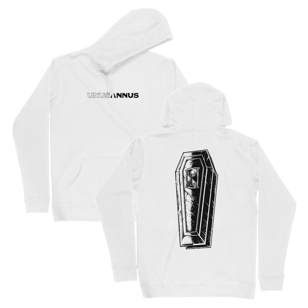 WHITE COFFIN HOODIE