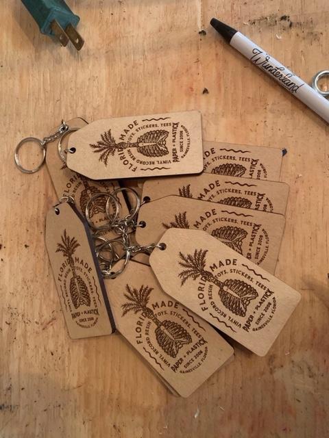 P+P Wooden Keychain