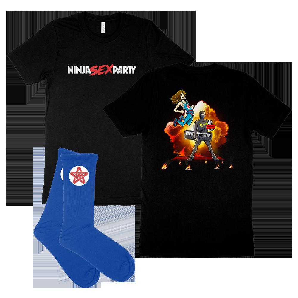 Explosion Tee & Danny Socks
