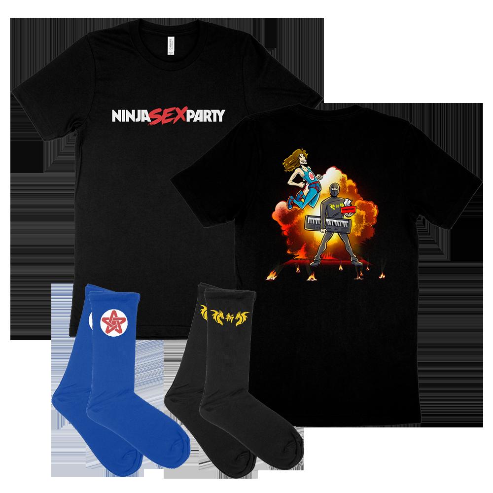 Explosion Tee & Both Socks