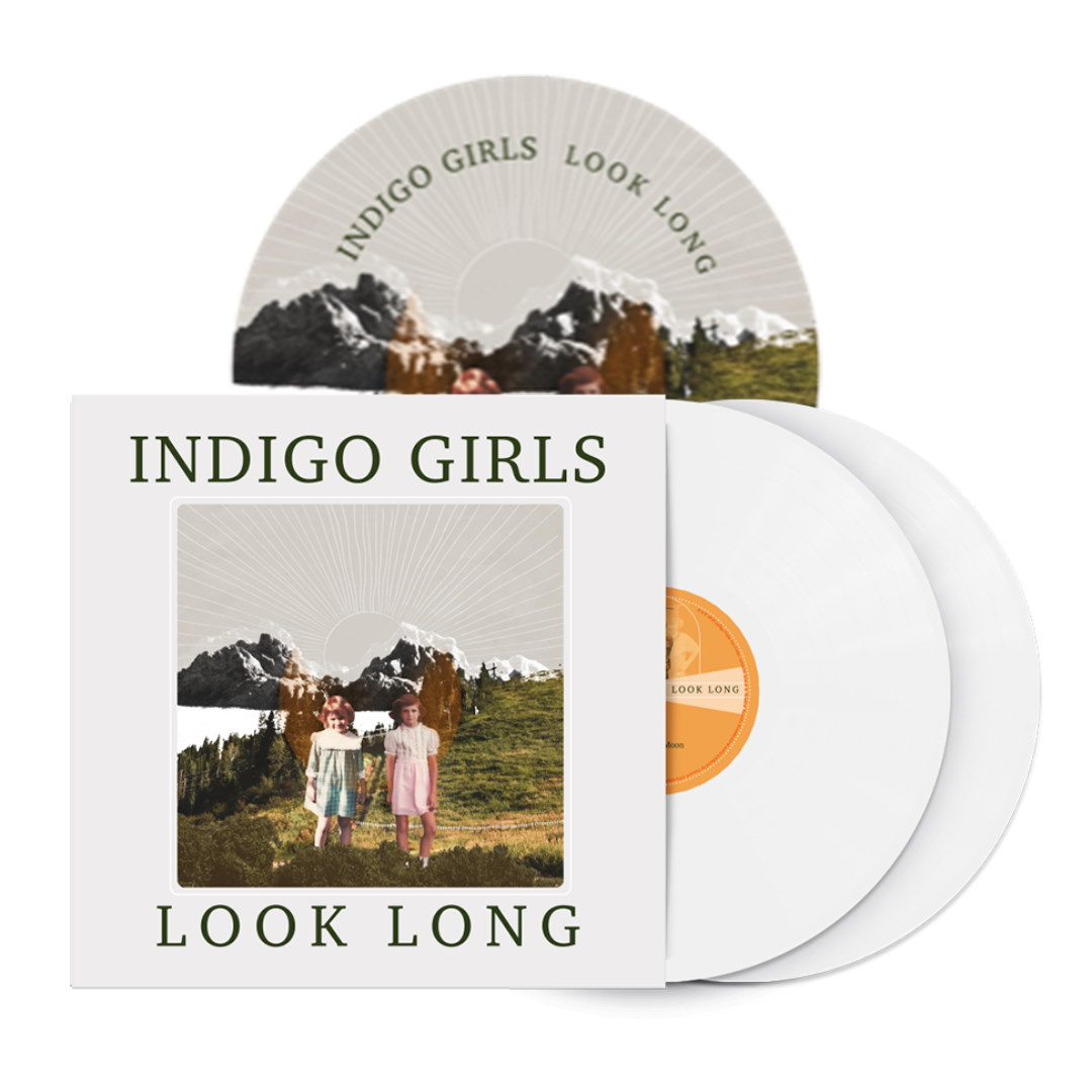 Signed or Unsigned Look Long 2xLP Opaque White 2xLP Vinyl + Poster + Patch