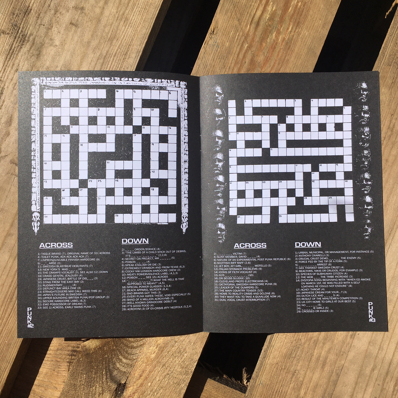 Punk + Metal Crossword Collection Zine - Issue 1