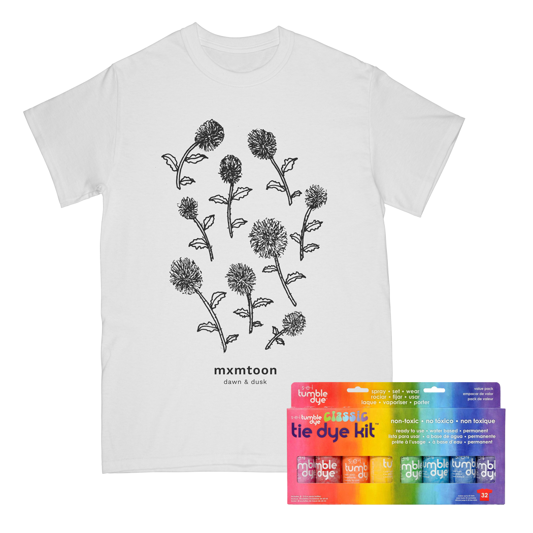 Flower Tee with At Home Tie Dye Kit