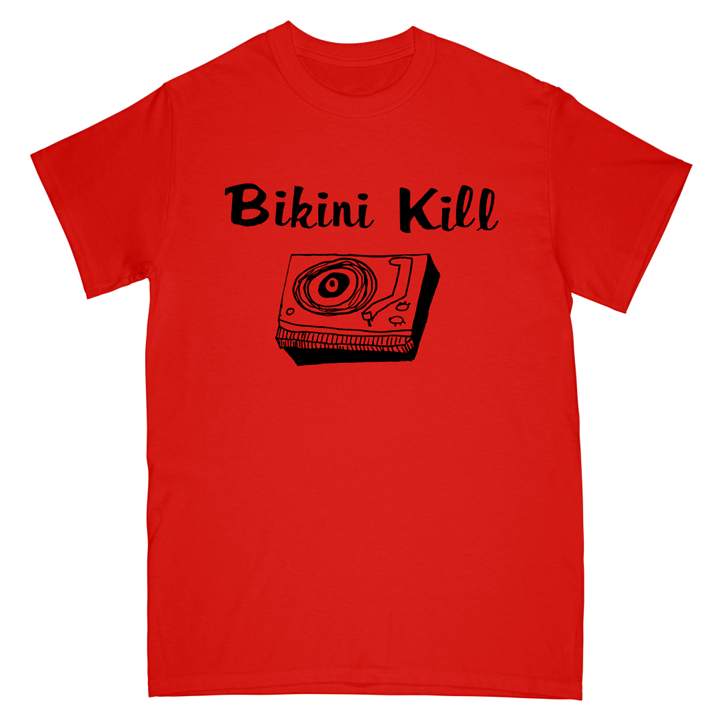 Record Player Tee - Red