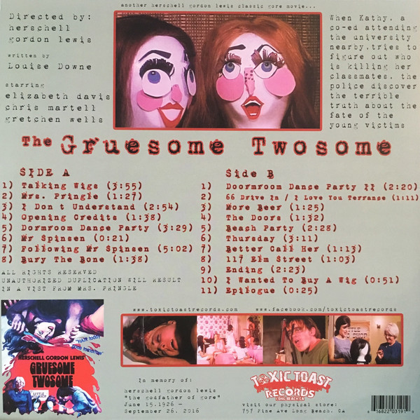 Gruesome Twosome Official Soundtrack LP