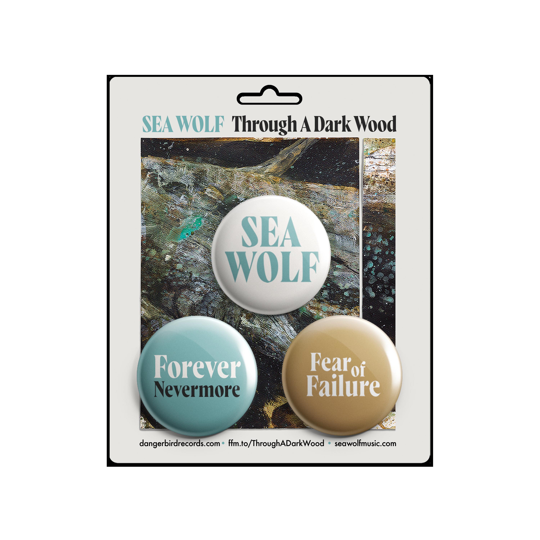 Sea Wolf - Through A Dark Wood - CD + Buttons Bundle