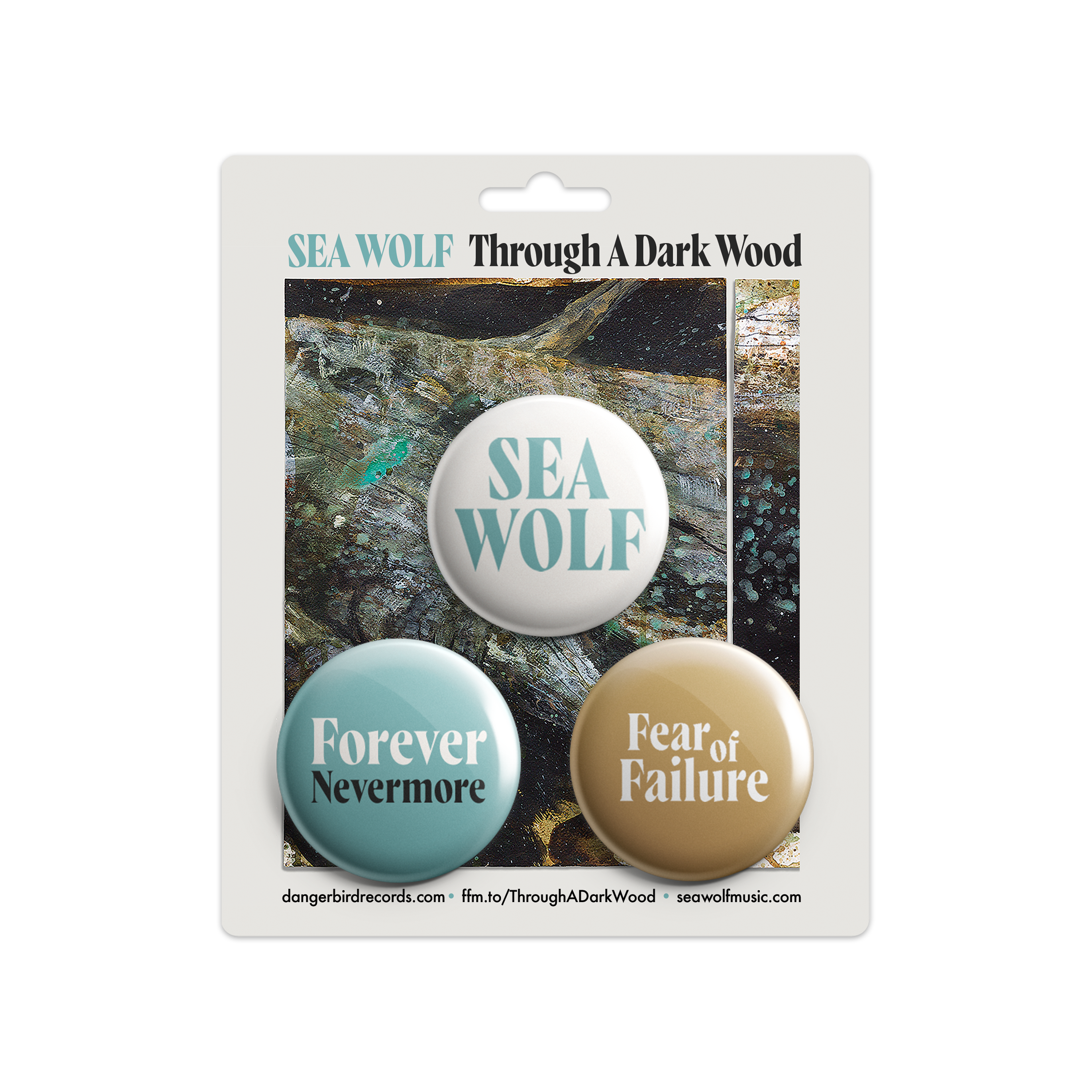 Sea Wolf - Through A Dark Wood - CD + Shirt + Buttons Bundle