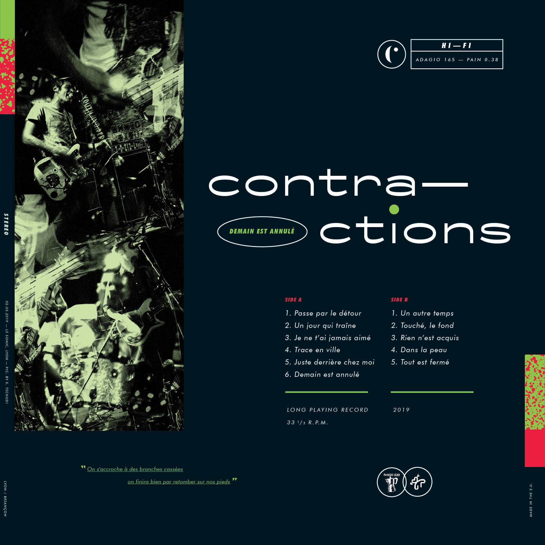 DISTRO: Contractions - Demain est annulé - LP