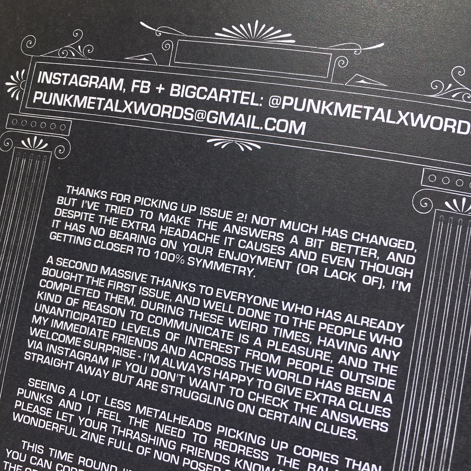 Punk + Metal Crossword Collection Zine - Issue 1 & 2