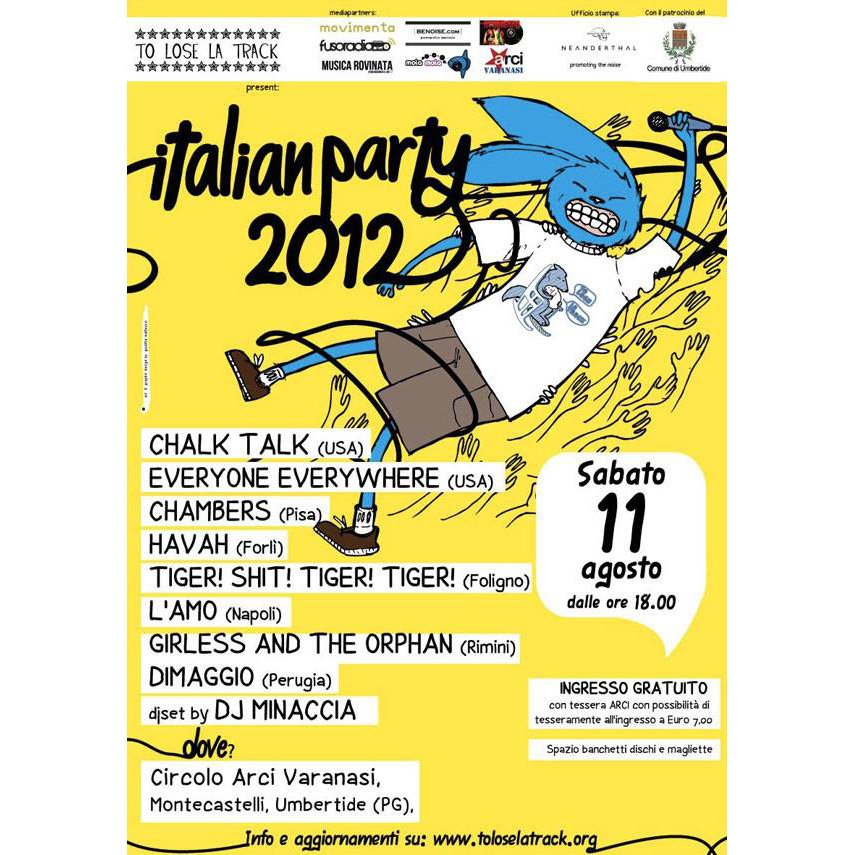 Italian Party 2012 poster