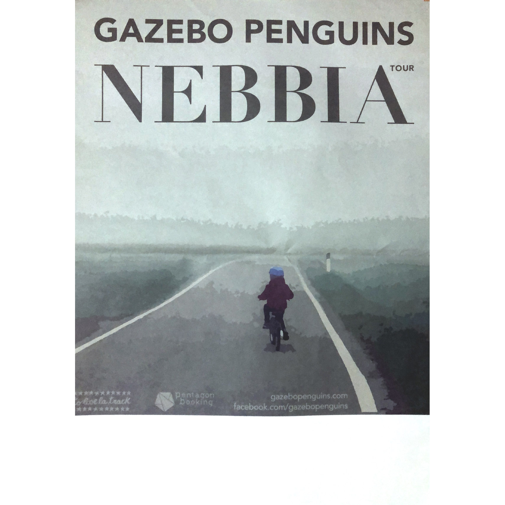 Gazebo Penguins - Nebbia 2017 tour poster