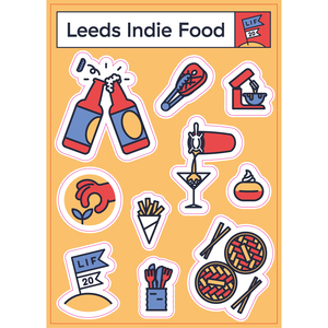Leeds Indie Food Sticker Set