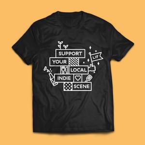 Leeds Indie Food Black T-Shirts