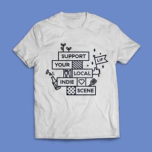 Leeds Indie Food White T-Shirts