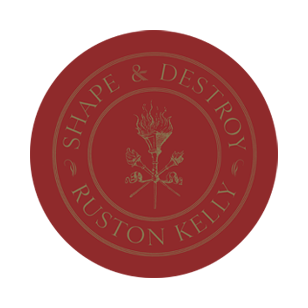 SIGNED or Unsigned Red Apple Shape & Destroy Vinyl LP + Transfer sticker