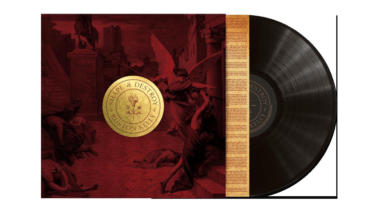 Unsigned Shape & Destroy Black Vinyl LP + transfer sticker