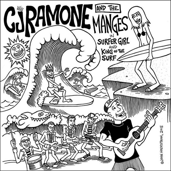 CJ Ramones and The Manges - split