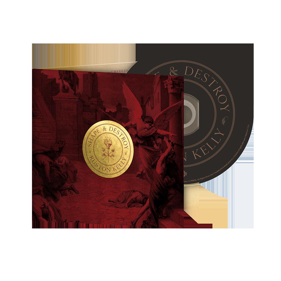 Shape & Destroy maroon angel hoodie + vinyl/CD/download (optional)