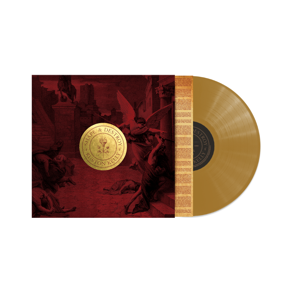 Antique brass keychain + Shape & Destroy vinyl/CD/download (optional)