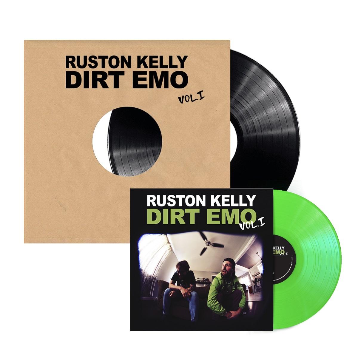 Signed Dirt Emo Vol. 1 Test Pressing + Neon Green Dirt Emo Vol. 1 Vinyl Bundle
