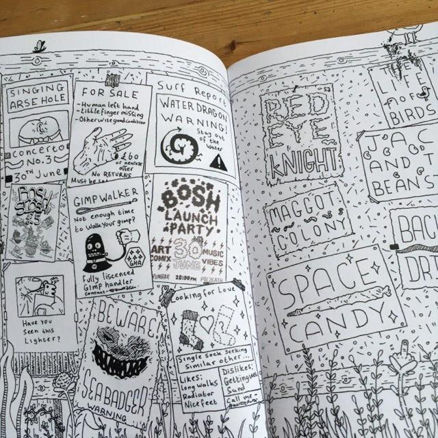 Bosh issues #1 & #2 - illustration comics