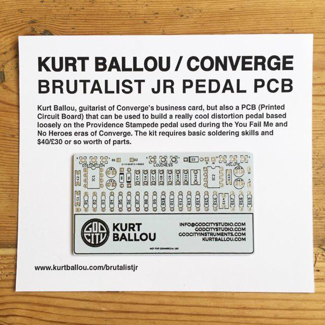 Kurt Ballou / Converge - Brutalist Jr Pedal PCB