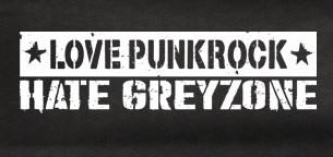 Aufnäher - Love Punkrock - Hate Greyzone