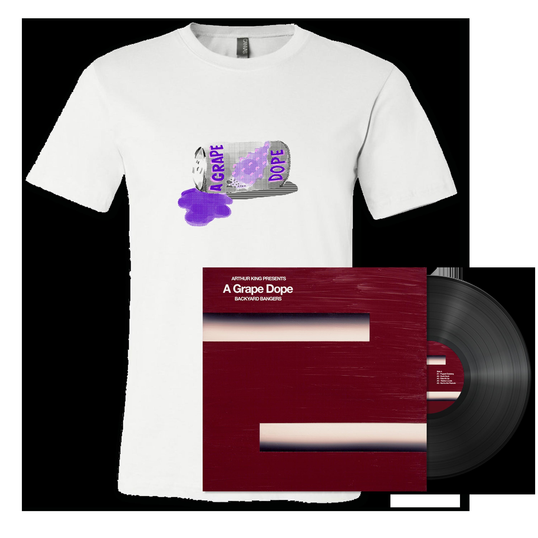 A Grape Dope - Arthur King Presents A Grape Dope: Backyard Bangers LP + Soda Can T-Shirt Bundle
