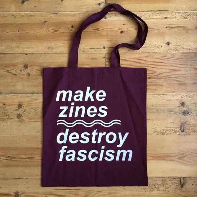 Make Zines Destroy Fascism - tote