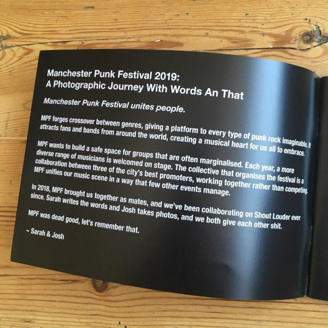 Manchester Punk Festival 2019 - photo zine