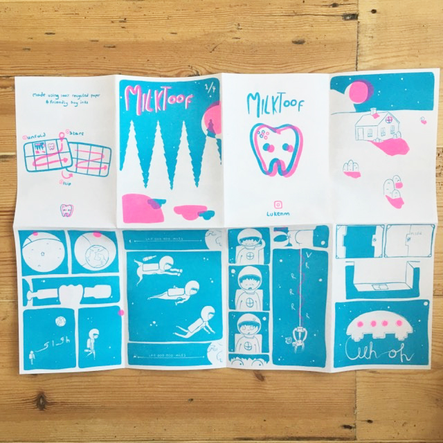 Milktoof - fold out comic zine