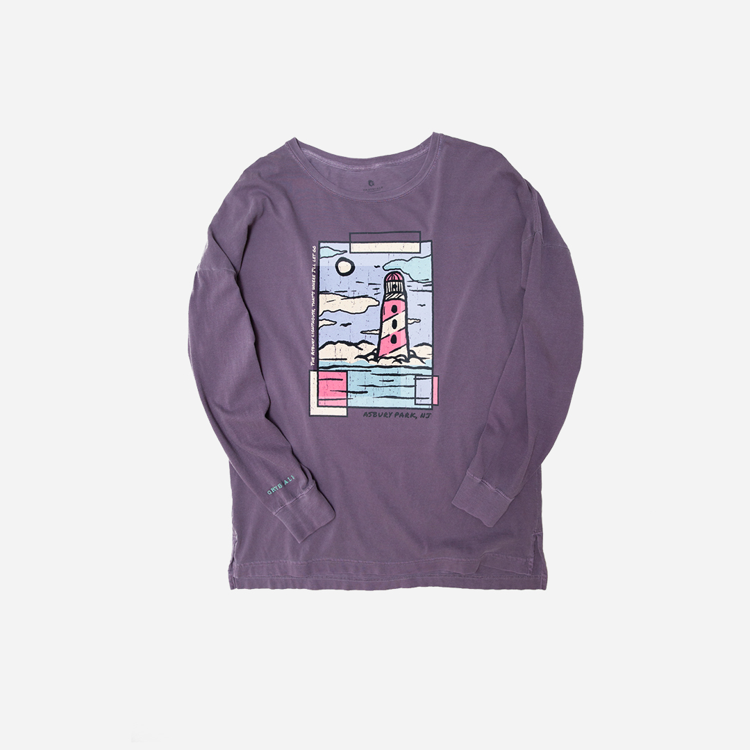 Grape Asbury Lighthouse Long Sleeve