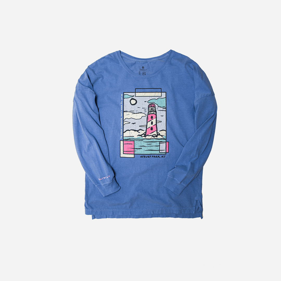 Blue Raspberry Asbury Lighthouse Long Sleeve