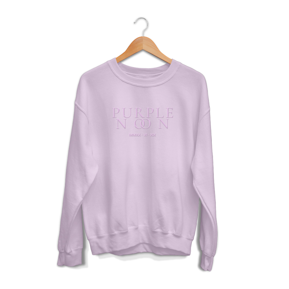 Embroidered Purple Noon Crewneck - Limited Edition
