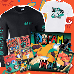 Dream Nails - Kiss My Fist Megabundle (CD or Vinyl, Tape, S/S Shirt, L/S Shirt, Badges, Postcard and Signed Zine)