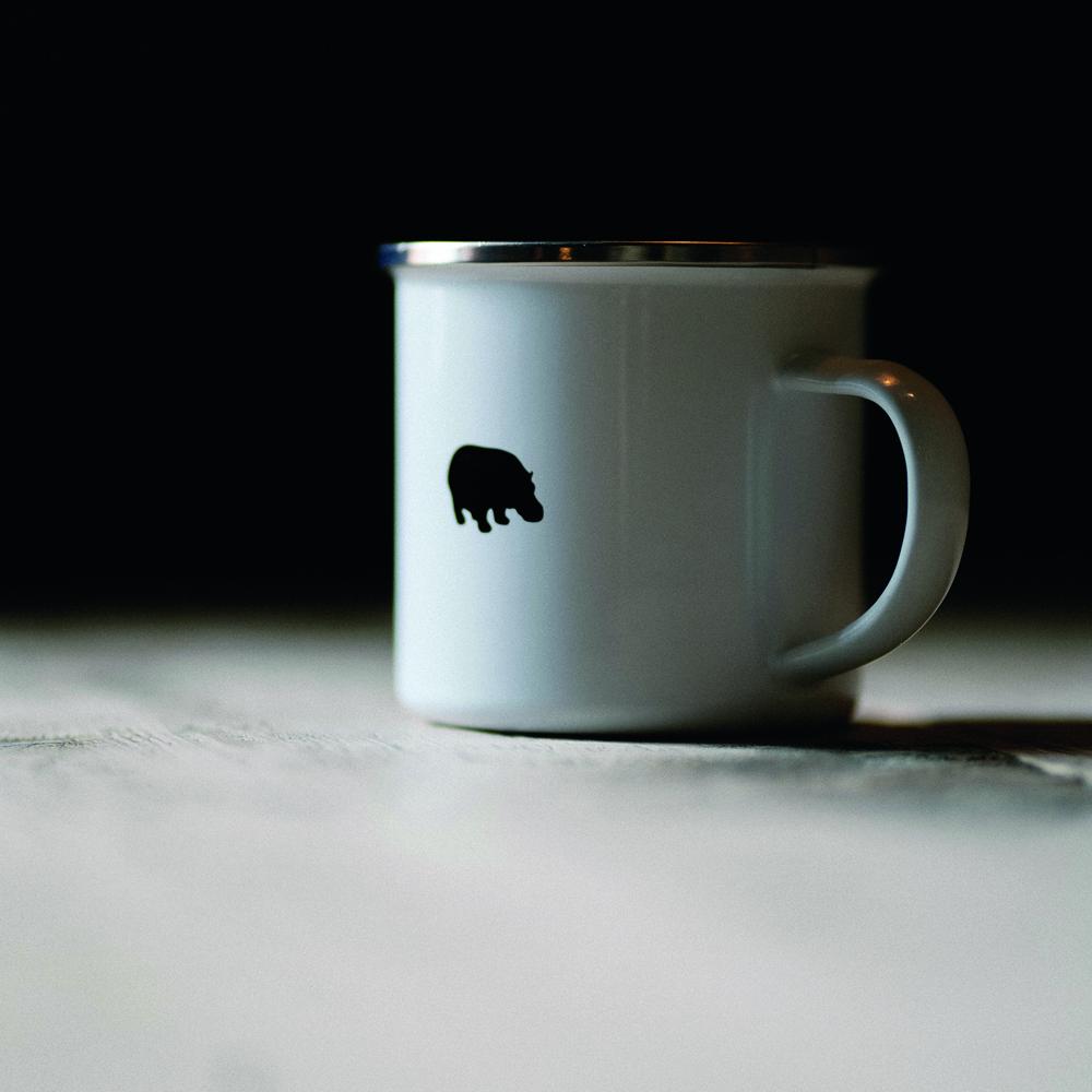 Hippo Enamel Tin Mug