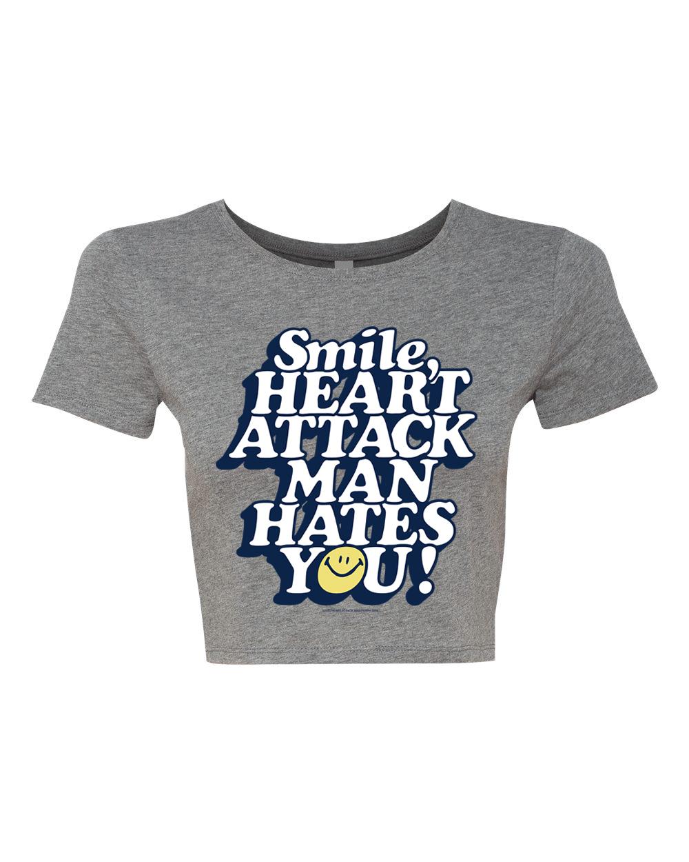 HATE - Gray Crop Top