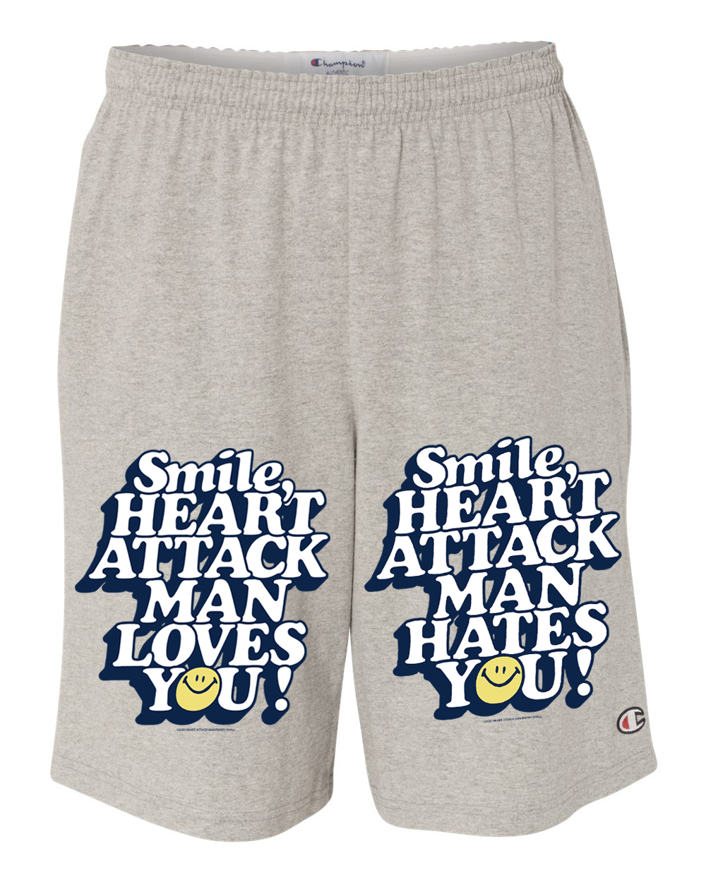 SMILE - Gray Shorts w/ Pockets