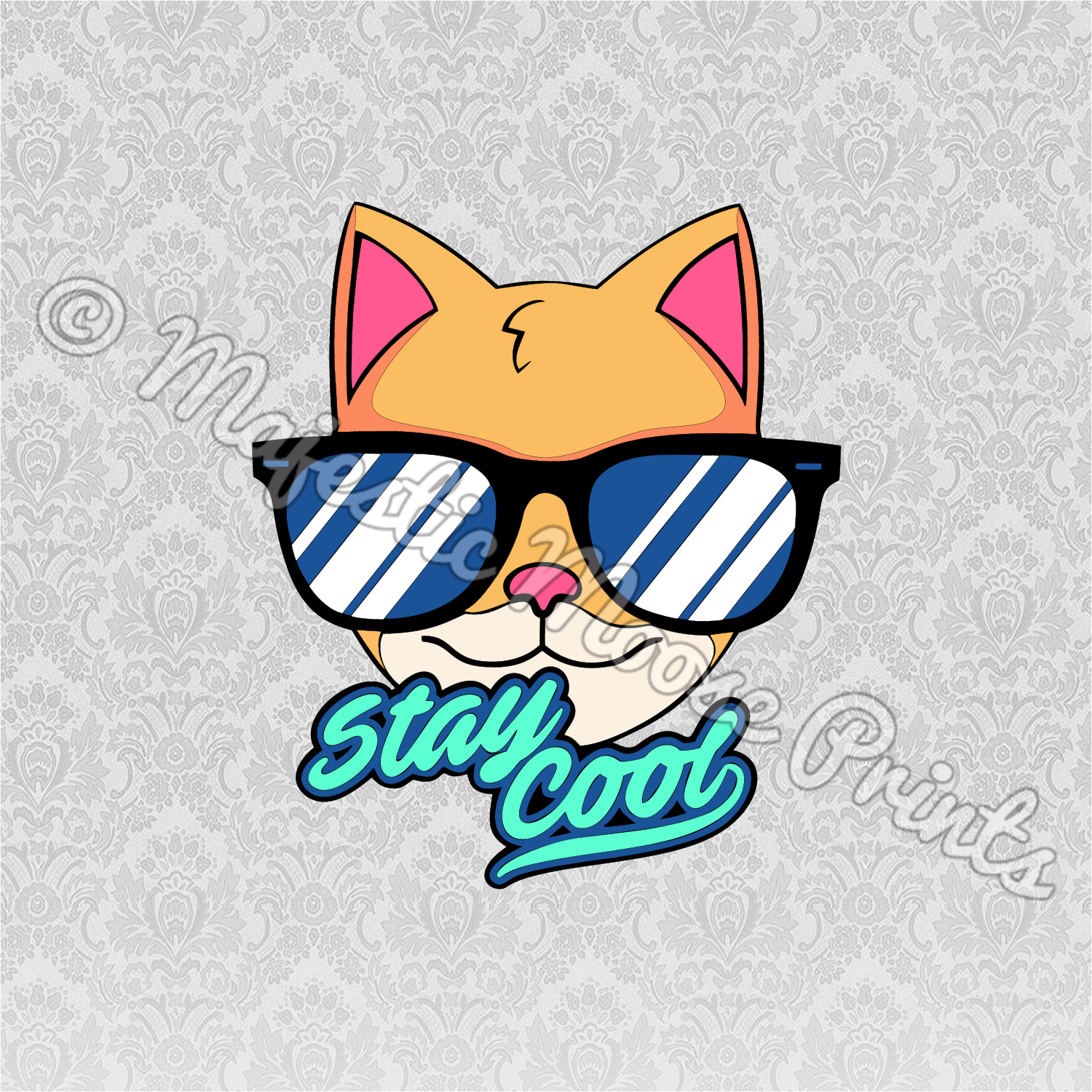 Stay Cool Kitty SVG