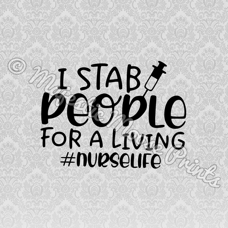 I Stab People - Nurse SVG