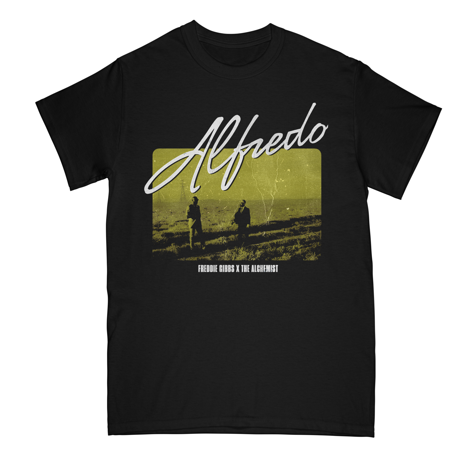 Alfredo Meet Up Black Tee