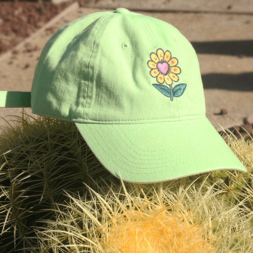 Flower Hat - Lime