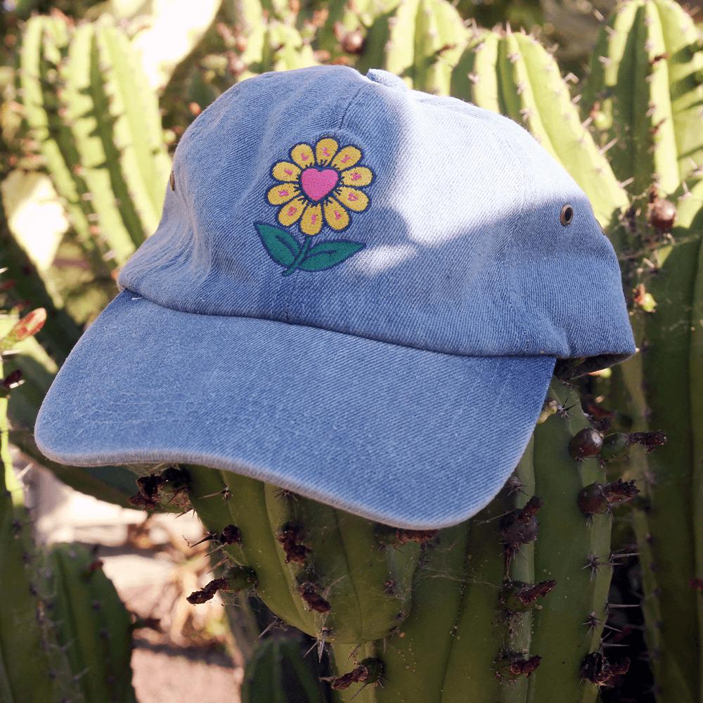 Flower Hat - Denim